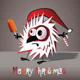 Merry Christmas funny bird Stock Photos
