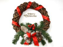 Merry Christmas garland Royalty Free Stock Photography