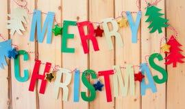 Merry Christmas garland Royalty Free Stock Image