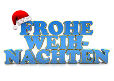 Merry Christmas in German Royalty Free Stock Photos