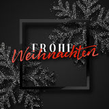 Merry Christmas. German inscription. Frohe Weihnachten. Stock Images