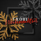 Merry Christmas. German inscription. Frohe Weihnachten. Royalty Free Stock Photo