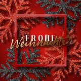 Merry Christmas. German inscription. Frohe Weihnachten. Royalty Free Stock Images