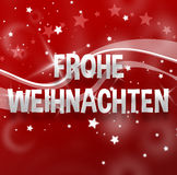 Merry Christmas German Language Stock Photography