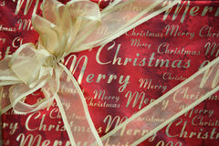Merry Christmas Gift Stock Photo
