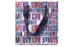 Merry christmas gift bag cutout Royalty Free Stock Photo