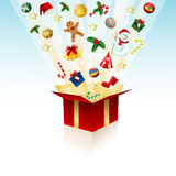 Merry christmas gift, box Royalty Free Stock Photos