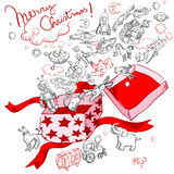 Merry christmas gift box Royalty Free Stock Images