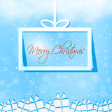 Merry Christmas gift box card Royalty Free Stock Photo