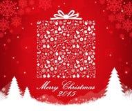 Merry Christmas gift box shape Royalty Free Stock Photography
