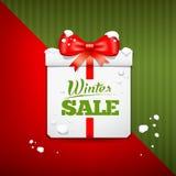Merry Christmas gift box winter sale design Stock Photo