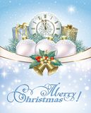 Merry Christmas. Gift boxes and Christmas decorations Royalty Free Stock Image