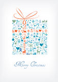 Merry Christmas gift card / greeting card Stock Photo