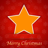 Merry Christmas gift card with a simple star Stock Photography