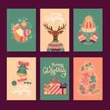 Merry Christmas  gift cards. Stock Images