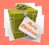 Merry Christmas Gift Displays Xmas And Seasons Greetings Stock Photography