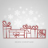Merry Christmas gift greeting card. Paper design Stock Photo