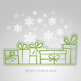Merry Christmas gift greeting card. Paper design Stock Image