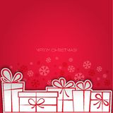 Merry Christmas gift greeting card. Paper design Royalty Free Stock Image