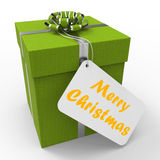 Merry Christmas Gift Means Xmas And Seasons Stock Images