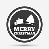 Merry christmas gift sign icon. Present symbol. Stock Images