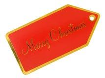 Merry Christmas Gift tag Stock Photo