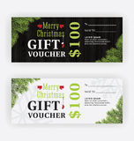 Merry Christmas Gift Voucher Certificate Template Design Royalty Free Stock Image