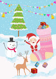 Merry christmas gift for you 'vector illustration Royalty Free Stock Photography