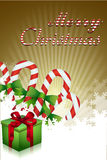 Merry christmas with gifts and candies Stock Images