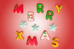 Merry Christmas gingerbread cookies royalty free stock photography