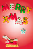 Merry Christmas gingerbread cookies Stock Images