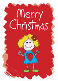 Merry Christmas - Girl Royalty Free Stock Image