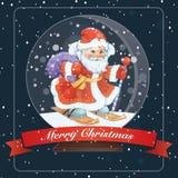 Card Merry Christmas Glass Ball stock illustration
