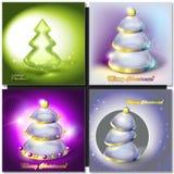 Merry Christmas glass tree Stock Photos