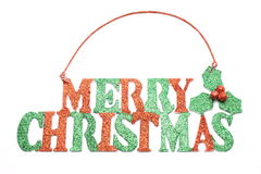 Merry Christmas Glitter Sign Royalty Free Stock Image