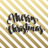 Merry Christmas glittering lettering design Stock Photos