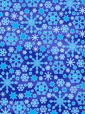 Merry Christmas!! :-) Glowing Snowflakes Stock Image