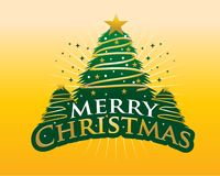 Merry Christmas with gold background stock illustration