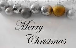 Merry christmas. Gold christmas ball, new year stock photography