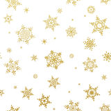 Merry Christmas gold glittering design. EPS 10. Vector file included Royalty Free Stock Photo
