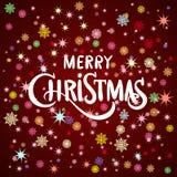 Merry Christmas gold glittering lettering design. Vector illustration EPS 10 Royalty Free Stock Image