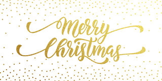 merry christmas festive black background with gold calligraphic greeting text stock vector