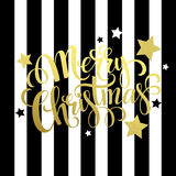 Merry Christmas gold lettering. Vector Royalty Free Stock Photos