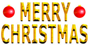 Merry Christmas Gold Royalty Free Stock Photo