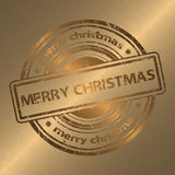 Merry Christmas Gold Style Background Stock Photography