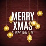 Merry Christmas gold Stock Photo
