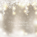 Merry Christmas golden card Stock Photo