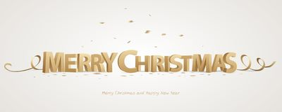 3D Merry Christmas royalty free stock images