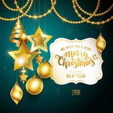 Merry Christmas gold Royalty Free Stock Image