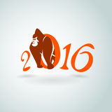 Merry Christmas from gorilla. Vector illustration for Your design, eps10 Royalty Free Stock Images